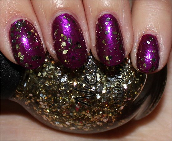 Nicole by OPI Selena Gomez Collection Kissed At Midnight Swatch