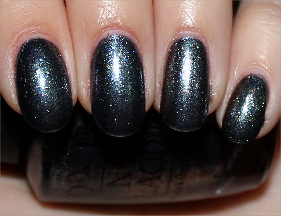 On Her Majestys Secret Service by OPI Skyfall Swatches
