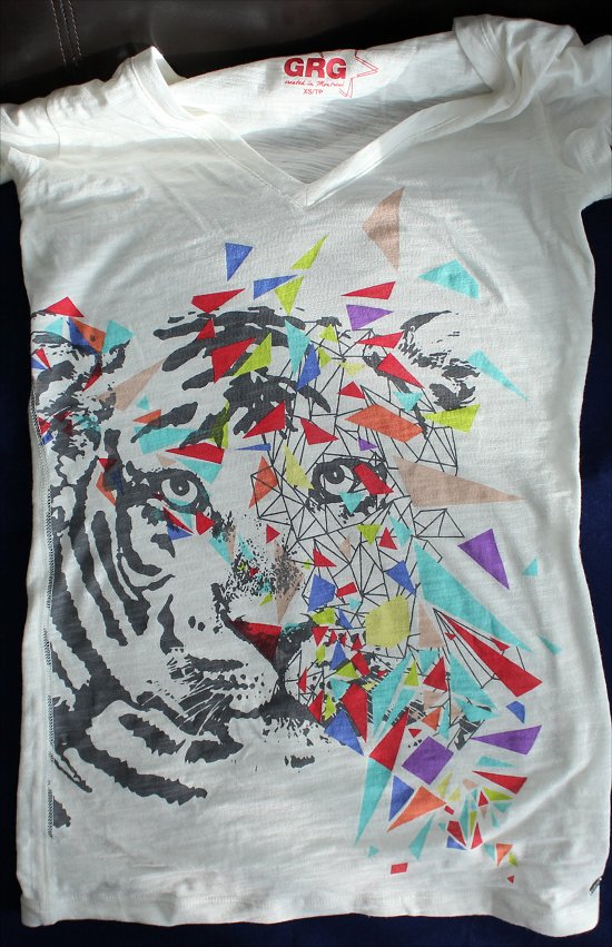 Rainbow Tiger Shirt Garage Clothing