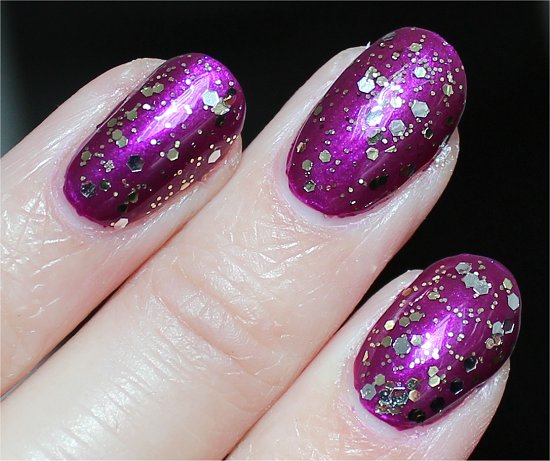 Selena Gomez Collection Nicole by OPI Kissed At Midnight Swatch