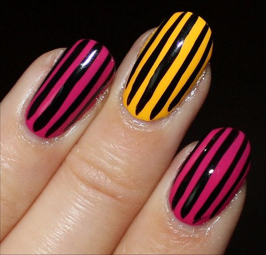 Nail Art: Vertical Stripe Nails | Swatch And Learn