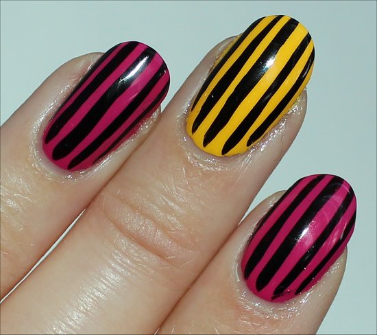 Stripe Nail Art Easy Manicure Idea