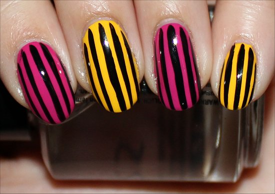 Vertical Stripe Manicure
