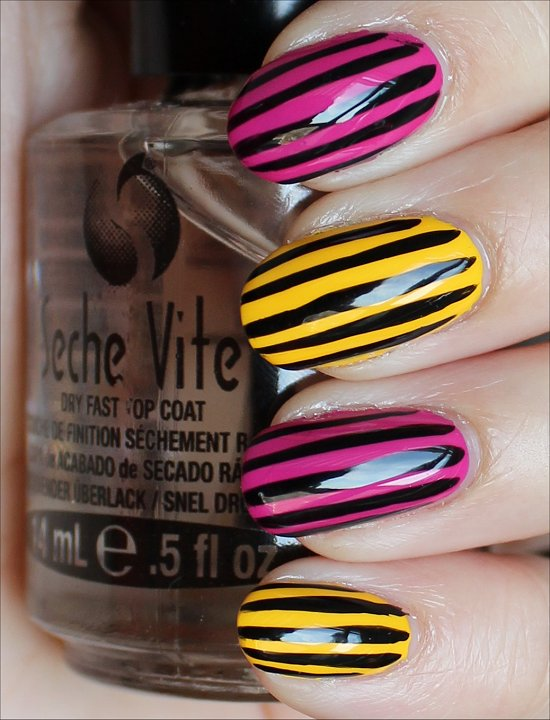 Vertical Stripe Nails Nail Art Swatches