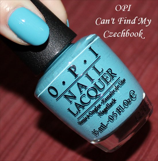 Can't Find My Czechbook OPI Euro Centrale Swatch