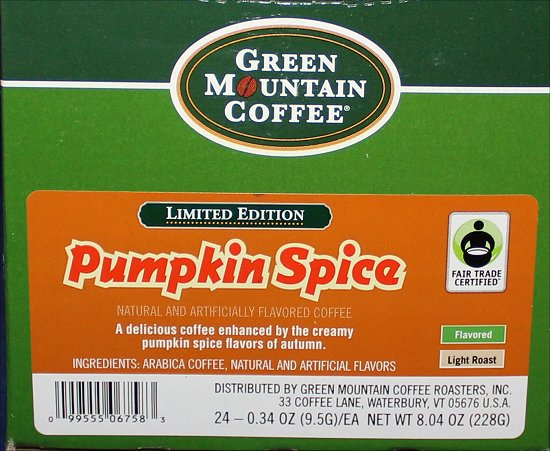 Green Mountain Pumpkin Spice Coffee