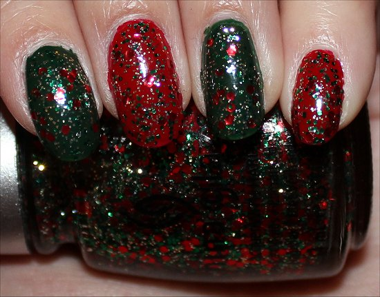 Green & Red Manicure