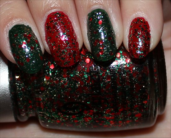 Green & Red Nails