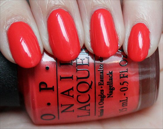OPI My Paprika Is Hotter Than Yours OPI Euro Centrale Swatches