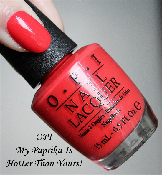 OPI My Paprika Is Hotter Than Yours Swatch & Review