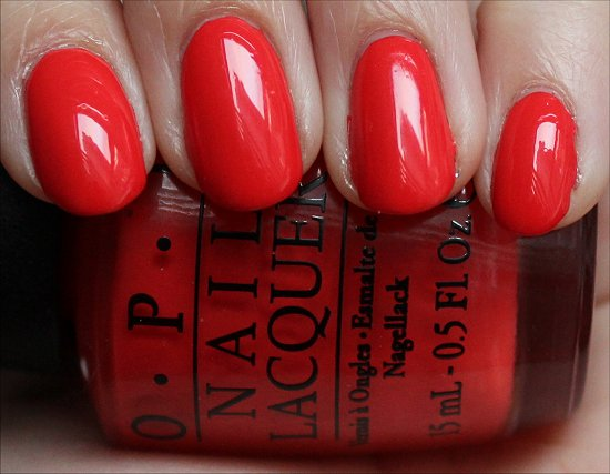 OPI My Paprika Is Hotter Than Yours Swatches