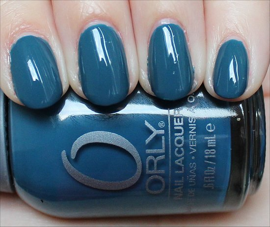 Orly Sapphire Silk Swatch & Pictures