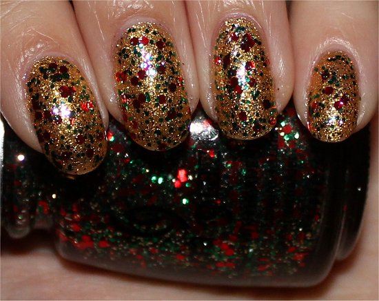 Party Hearty China Glaze Swatches Christmas Nail Polish