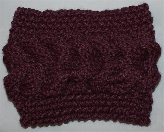 Purple Cowl I Knit