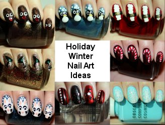 Winter &amp; Holiday Nail Art Ideas &amp; Tutorials