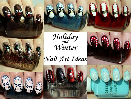 Winter & Holiday Nail Art Ideas & Tutorials