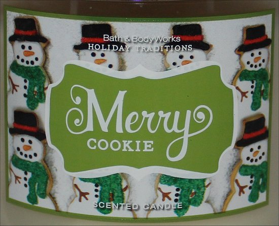 Bath & Body Works Merry Cookie Candle Review & Photos