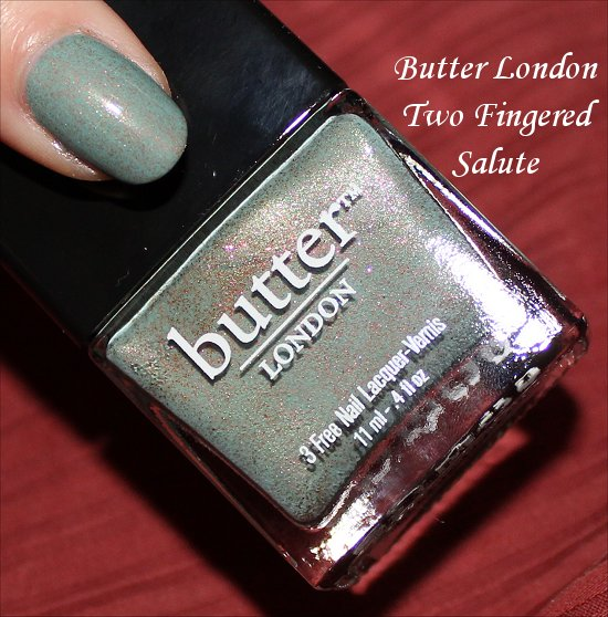 Butter London Two Fingered Salute Swatches & Pictures