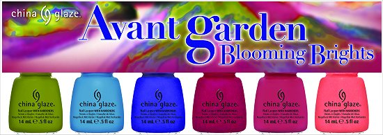 China Glaze Avant Garden Collection Press Release & Promo Pictures Blooming Brights 6-Piece Set