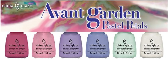 China Glaze Avant Garden Collection Press Release & Promo Pictures Pastel Petals 6-Piece Set