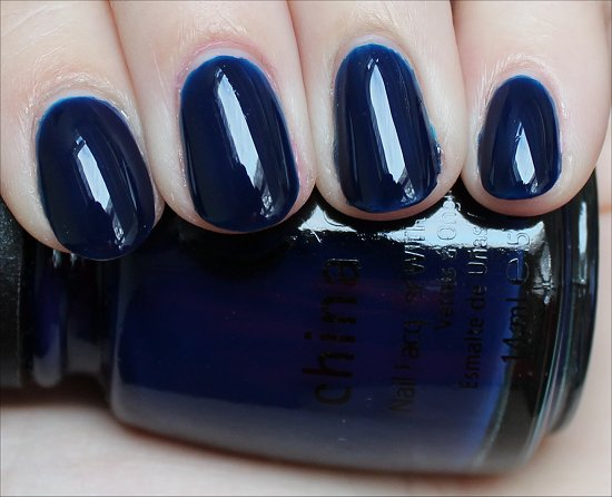 China Glaze Calypso Blue Swatch & Review