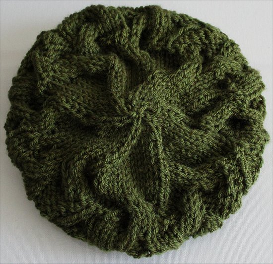 Finished Green Hat Knitting