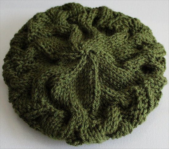 Finished Knitting a Green Hat