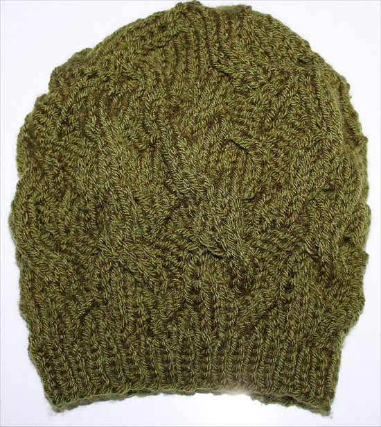 Knitting Love Green Beanie