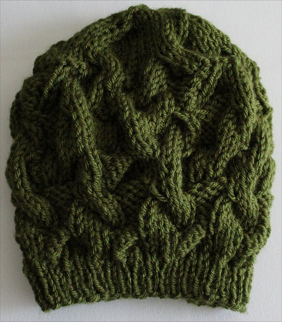 Knitting a Green Beanie
