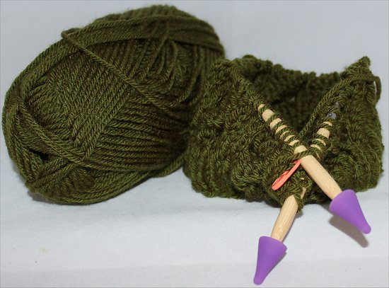 Knitting a Green Hat