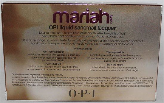 Mariah Carey OPI Liquid Sand Giveaway