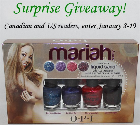 OPI Mariah Carey Liquid Sand Giveaway