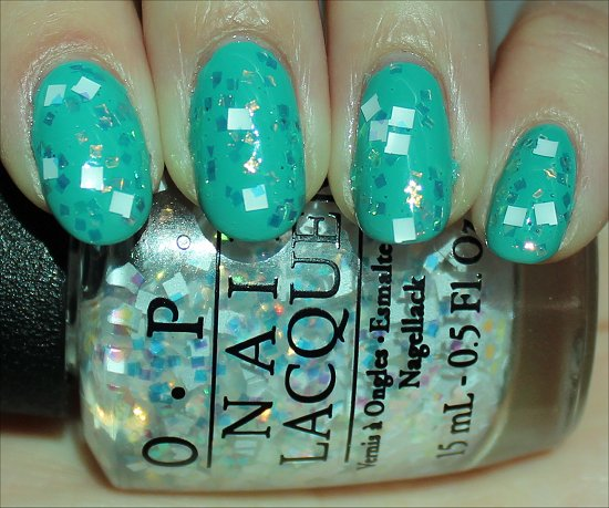 OPI Oz the Great & Powerful Collection Lights of Emerald City Swatch
