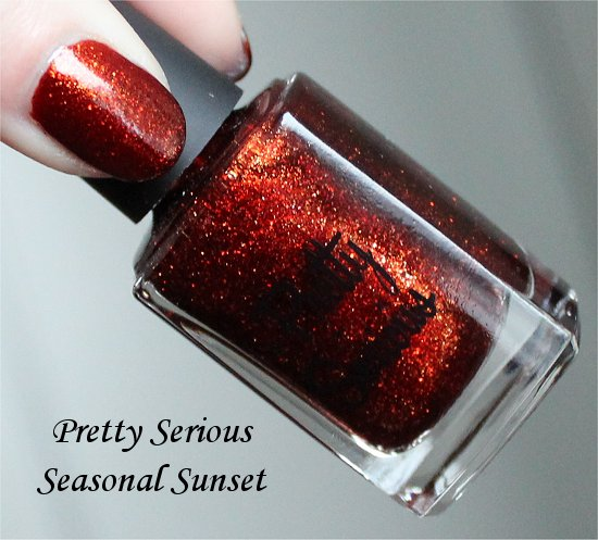 Pretty Serious Christmas Without Snow Collection Swatch Seasonal Sunset