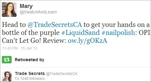 Trade Secrets SwatchAndLearn OPI Cant Let Go