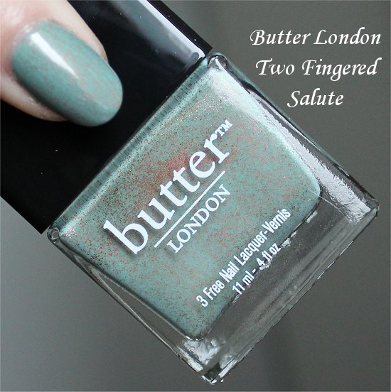 Two Fingered Salute Butter London Swatch