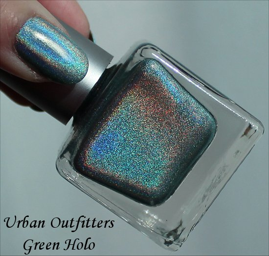 Urban Outfitters Green Holo Nail Polish