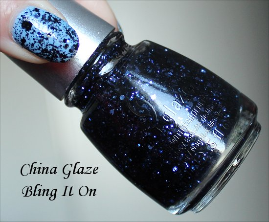 China Glaze Glitz Bitz n Pieces Collection Swatches Bling It On Swatch