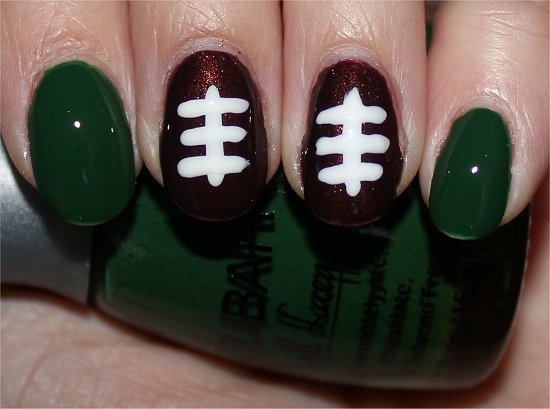 Easy Nail Art Football Nails