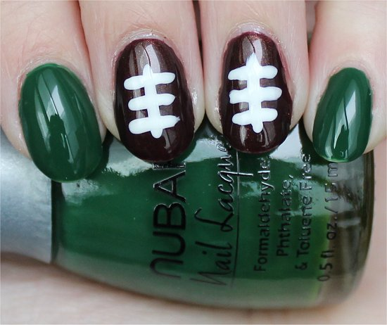 Football Nail Art Easy Nail Tutorial