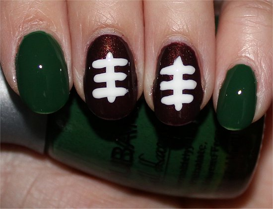 Football Nail Art Nails Tutorial & Photos