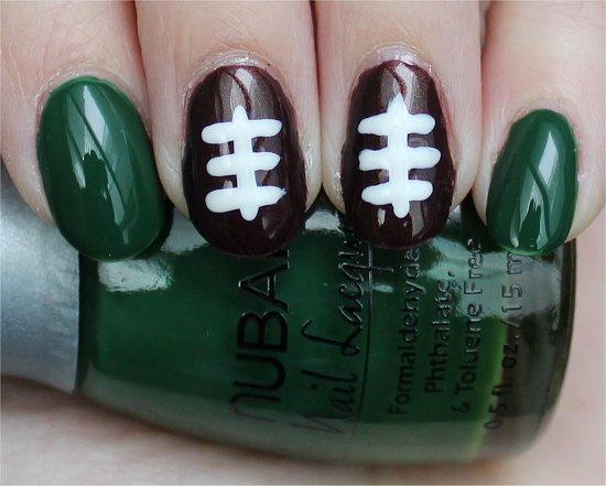 Football Nails Easy Nail Art Tutorial