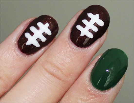 Football Nails Easy Nail Art