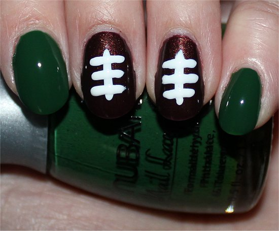 Football Nails Nail Art Tutorial Step 3