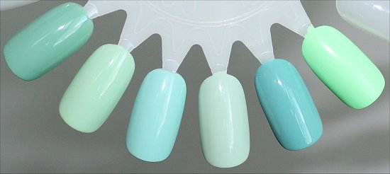 Minty Green Nail Polish Comparison Swatch
