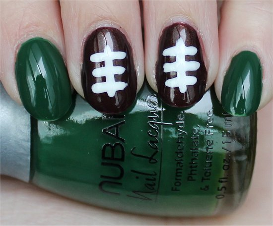Nail Art Tutorial Football Nails