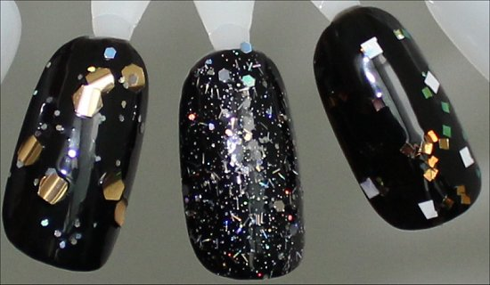 OPI When Monkeys Fly, OPI Which is Witch, OPI Lights of Emerald City Comparison Swatches 1 Coat
