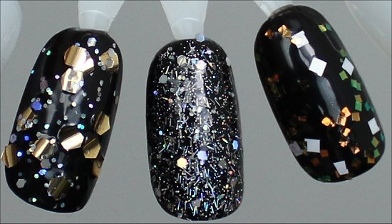 OPI When Monkeys Fly, OPI Which is Witch, OPI Lights of Emerald City Comparison Swatches 2 Coats