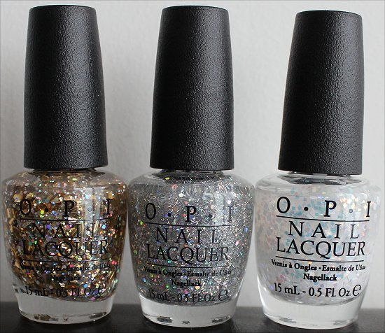 OPI When Monkeys Fly, OPI Which is Witch, OPI Lights of Emerald City Comparison