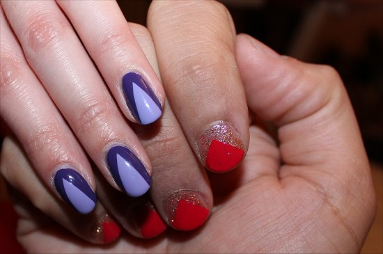 Scotch Tape Nail Art Nails